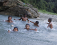 Splashing away the summer heat