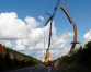 Massive steel sculpture takes pride of place on Belgian highway