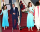 Kate Middleton wears a blue ombre shalwar kameez in Pakistan royal tour