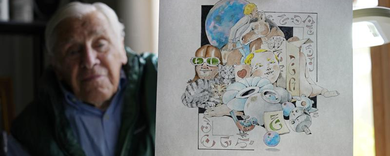 88-year-old artist finishes year of pandemic 'daily doodles'
