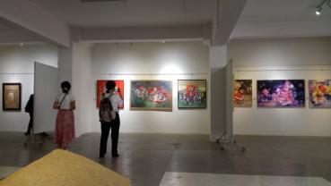 Sirjana: A Collective Art show 2021 on display