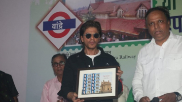 SRK launches heritage postal stamp of Bandra station