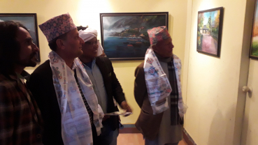 Nepali landscape and scenarios on exhibition