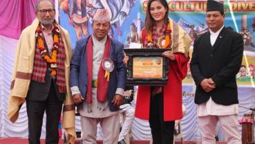 SAB School felicitates Shrinkhala