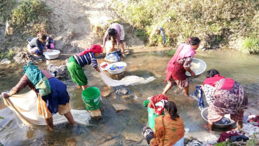 Water scarcity drags women to rivers