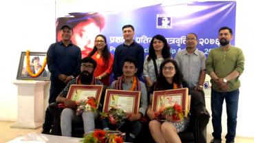 Three arts students received 'Prashant Talent Scholarship'