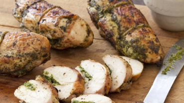 Basil pesto isn't just for pasta. Try it on grilled chicken