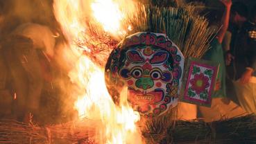 Celebrating  Ghantakarna or Gathamangal festival