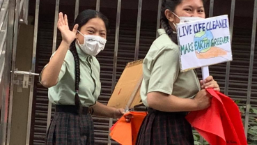 Children in Bansighat Slum observed World Environment Day