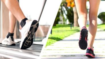 Running on a treadmill versus running outside
