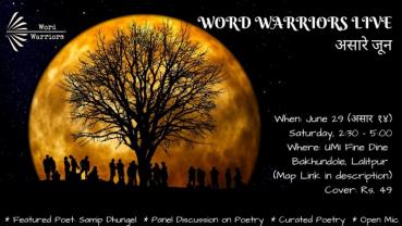 Spoken Word Nepal hosting Word Warriors Live