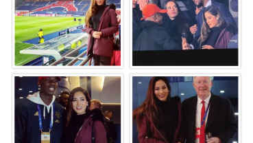 Miss Nepal 2018 Shrinkhala shares VIP Stands alongside Sir Alex Ferguson