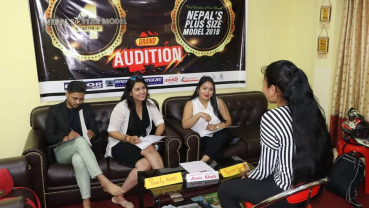 Gearing up for 'Nepal's Plus Size Model'