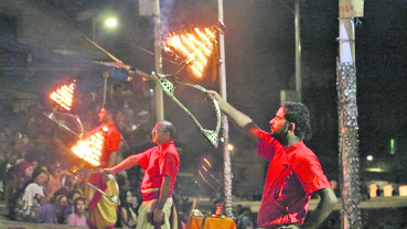 National anthem resonates at Pashupatinath aarati