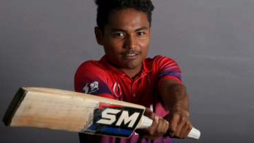 Paudel, the youngest batsman to hit an international half century