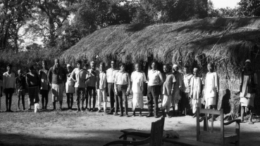 Nostalgia: Surya Bahadur Thapa with  locals in Bangai Village of Lumbini in 1971