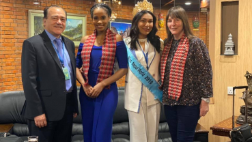 Miss World Toni-Ann arrives in Nepal