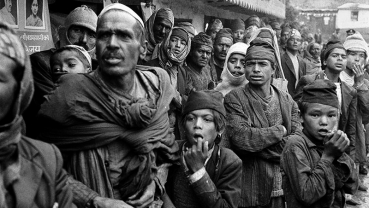 Nostalgia: Local people waiting to receive VIPs at Jumla Bazaar