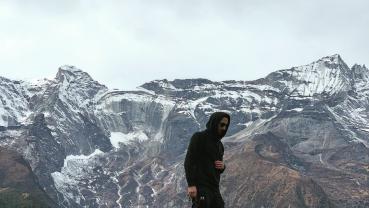 Oscar-winning actor Adrien Brody in Nepal
