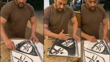 Salman Khan uses stay-at-home time for sketching
