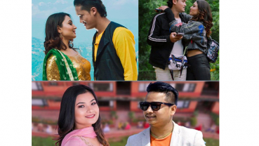 Saroj and Aashma's romance in Prachanda's granddaughter's song