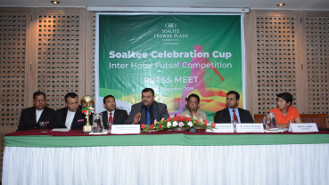 Gearing up for inter hotel futsal tournament