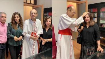 Farah Khan, Raveena Tandon apologise to Cardinal Oswald Gracias