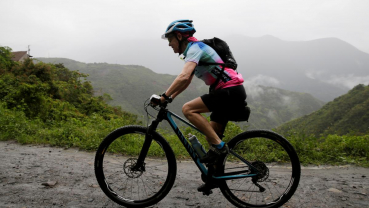 A 70-year-old biking grandmother conquers Bolivia's 'Death Road'