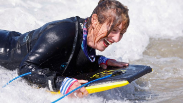 Boogie board fever: Silver-haired ladies cut loose on California surf
