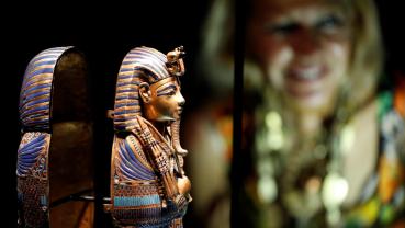 Ancient treasures go on display in London Tutankhamun exhibition