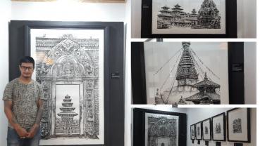 Prashant Shrestha's 'Samrachhen' on display