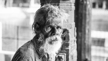 Grandfather's grey beard