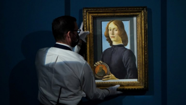 Rare Botticelli portrait sells for record $92.2 million at NY auction