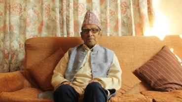 Rastrakavi Madhav Prasad Ghimire still young at 101