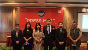Karishma Manandhar introduces Intex's home appliances in Nepali market