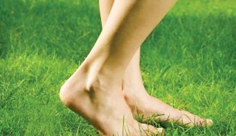 Health benefits of walking barefoot
