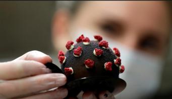 Prague cafe hits sweet spot with coronavirus-shaped dessert