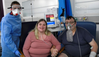 A sick couple rushed to marry in UK COVID ward. Now they have a second chance