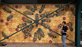 Good of the Hive: the New York muralist on a mission to hand-paint 50,000 bees