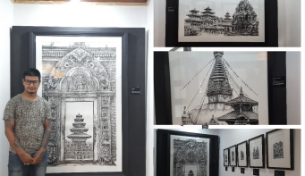 Prashant Shrestha's 'Samrachhen' on display