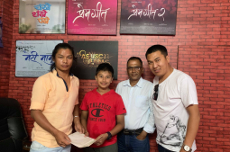 Who is playing Pradeep Khadka's younger version in 'Prem Geet-3'?