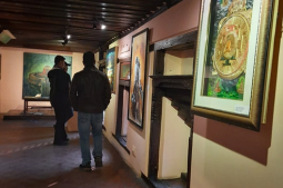 Korea and Nepal Convergence Art Exhibition on display