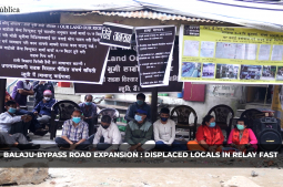 Balaju-Bypass Road Expansion: Displaced locals in relay fast