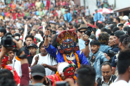 How Indra Jatra is celebrated in Bhaktapur