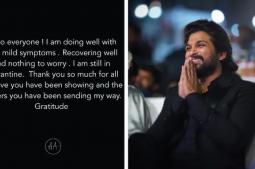 Allu Arjun shares health update, says he has mild Covid symptoms