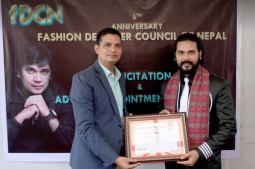 Choreographer Jha appointed as the advisor of Fashion Designers Council of Nepal