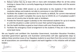 Help and support Nepali students in Australia on current COVID-19 crisis