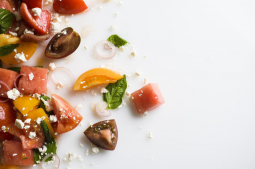 Sweet, savory combo pops in melon salad
