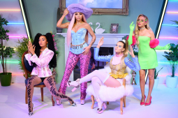British girl band Little Mix gets wax figures at London's Madame Tussauds