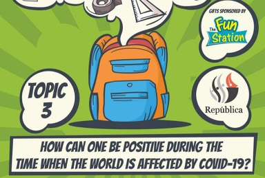 Republica Daily Contest Topic  3- How can one be positive during the world is affected by COVID-19?